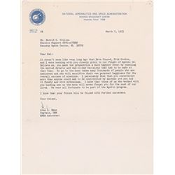 Alan Bean 1973 Typed Letter Signed