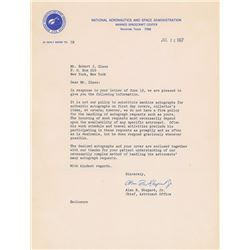 Alan Shepard 1967 Typed Letter Signed