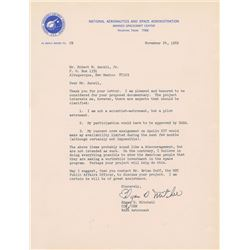 Edgar Mitchell 1969 Typed Letter Signed