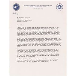 Stuart Roosa 1976 Typed Letter Signed