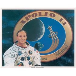 Edgar Mitchell Pair of Signed Photographs