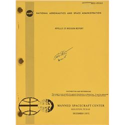 Dave Scott Signed Apollo 15 Mission Report