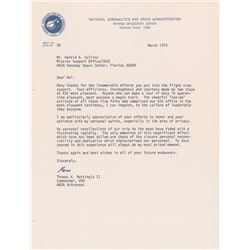 Ken Mattingly 1973 Typed Letter Signed