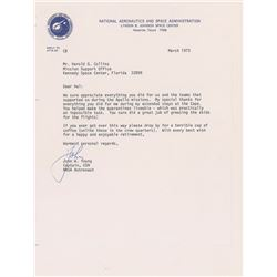 John Young 1973 Signed Letter