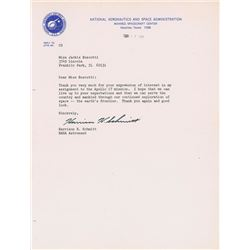 Harrison Schmitt 1972 Typed Letter Signed