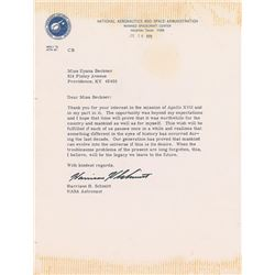 Harrison Schmitt 1973 Typed Letter Signed