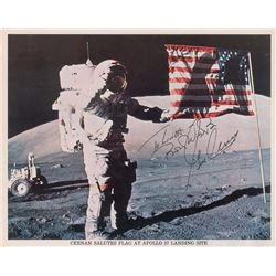 Gene Cernan Pair of Signed Photographs