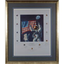 Apollo Astronauts 'In the Beginning' Signed Print