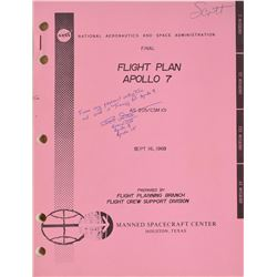 Dave Scott Training-Used Apollo 7 Flight Plan