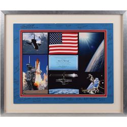 STS-88 Flown Flag and Signed Display