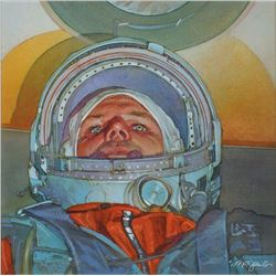 Mark Schuler Original 'First Man in Space' Painting