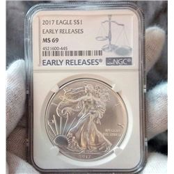 2017 Eagle $1 Early Release MS 69