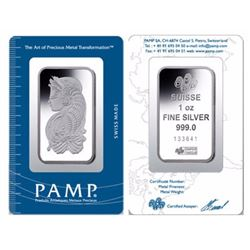 PAMP Sussie 1oz Silver Bar in Assay
