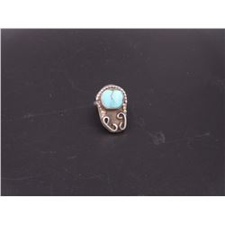 sz 5.5 Silver Turquoise Ring