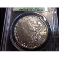 1887 Morgan Dollar (PCGS) MS63