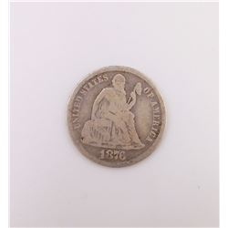 1876 Seated Dime (VG)