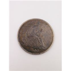 1858-O Seated Half Dollar (VF+)