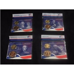 US Mint Presidential Spouse Set - 4 coins bronze, 4 coins brass