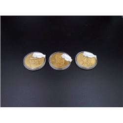 Jordan Pippen Rodman NBA Bronze 3-coin Set
