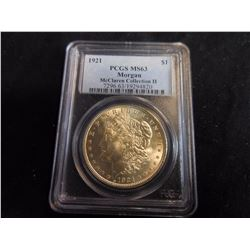1921 Morgan Dollar (PCGS) MS63