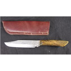 Knife with Handcrafted Handle in Sheath