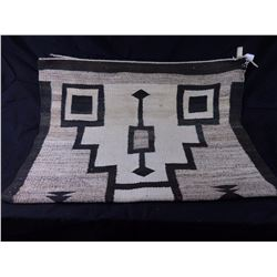 "Large Navajo Rug ""Storm Pattern"" 1950's"