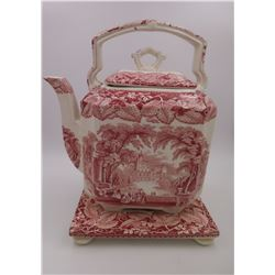 Glass Teapot (Masons) - Made In England