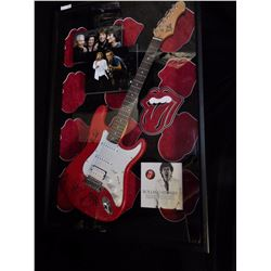 Authentic Signed Rolling Stones Guitar with COA
