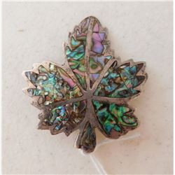 Mexican S.S. & Abalone Pin or Pendant