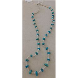 Shell & Turquoise Heishi Necklace
