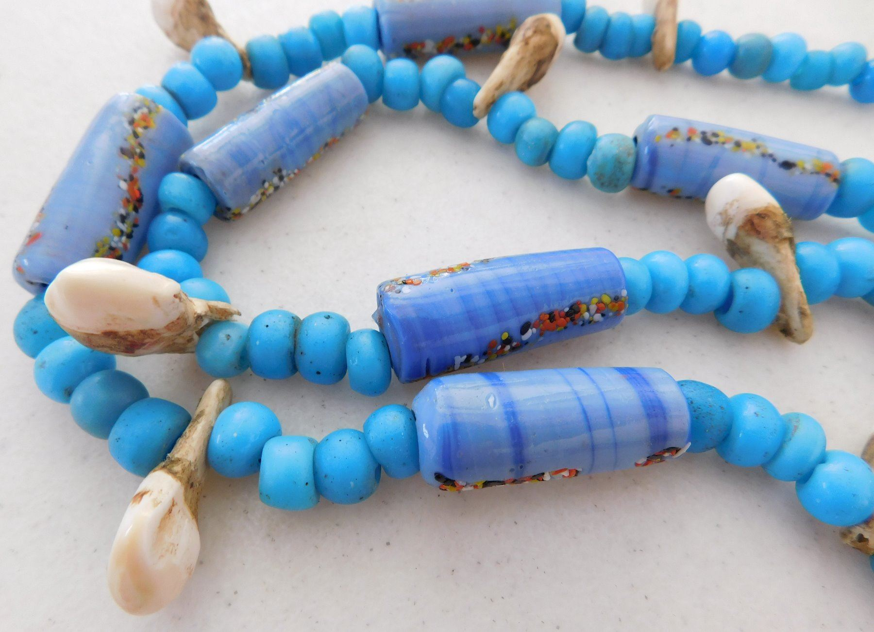 authentic listing west fullxfull mixed bead handmade glass trade african necklace beads il