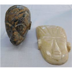 2 Stone Effigy Heads
