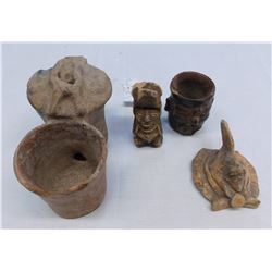 4 Pre-Columbian Effigy Items