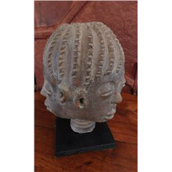Ashanti 3-Sided Clay Head w/Stand