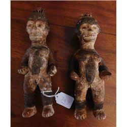 Pair of Ebo Clay Figures