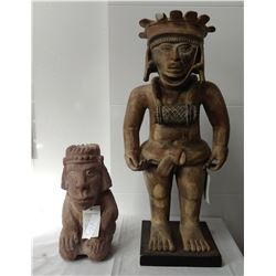 2 Pre-Columbian-style Figures