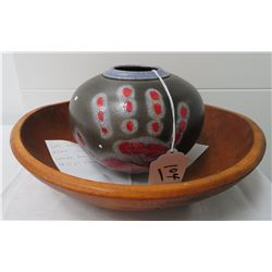 Cherokee Polychrome Olla + Gaming Bowl