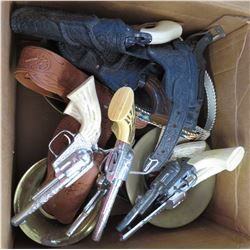 Toy Cowboy Holster + Cap Gun Collection