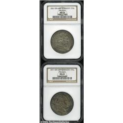 Prussia Talers including: 1861, KM488, MS64