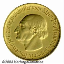 Westphalia Billion mark 1923 struck in gold