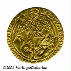 Edward IV (2nd reign of 1471-83) gold Angel,