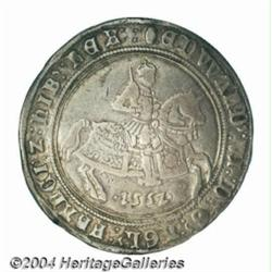Edward VI crown 1552, king on horseback.