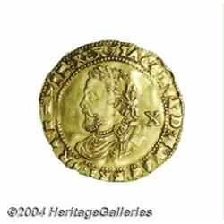 James I (1603-25) gold Half Laurel, 3rd