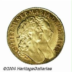 William & Mary gold Guinea 1689, S-3426.