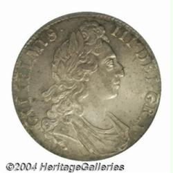 William III Crown 1695, S-3470. 1st bust. MS62