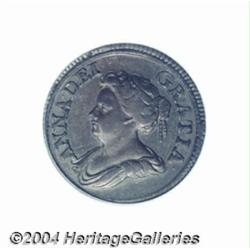 Queen Anne Farthing 1714, S-3625. A classic