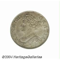 Queen Anne Roses & Plumes overdate Shilling