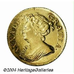 Queen Anne gold Guinea 1713, S-3574. 3rd bust.
