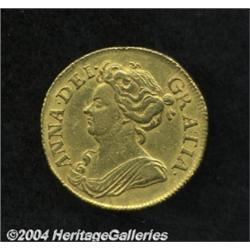 Queen Anne gold Guinea 1713, S-3574. 3rd bust,