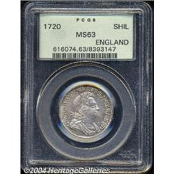 George I Shilling 1720, S-3646. MS63 PCGS.